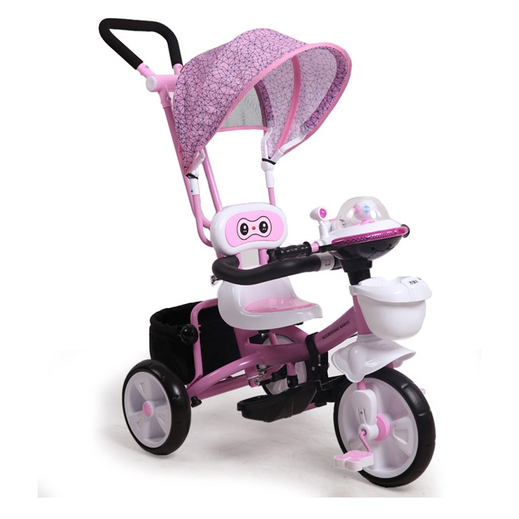 Fenfen Children 's Tricycles Bicycles 1 – 6 Years Old Baby Bicyclesベビー自転車カート、ピンク/ブルー、55104 CM B07C55LTYYピンク