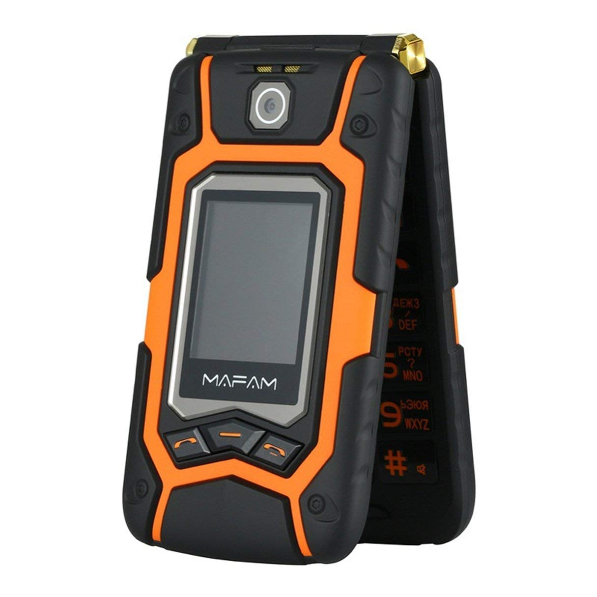 Wafalano Wasserdichtes Elder Man Cellphone FM-Radio Dual-SIM-GSM-Standby-Big-Box-Lautsprecher-Mobiltelefon