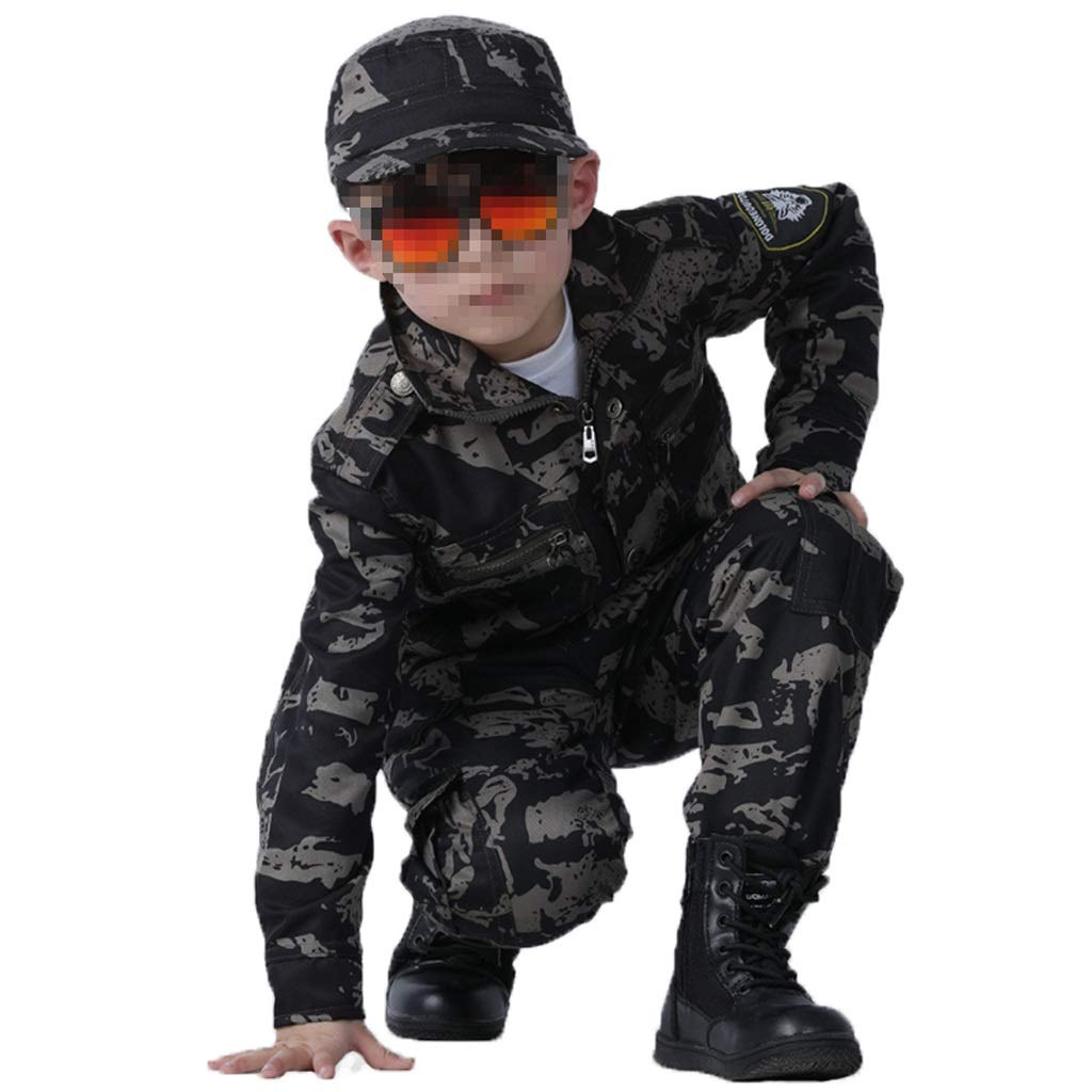 GRZP Tarnuniformen für Kinder, Herren-Spezialeinheiten für Anzüge, militärische Trainingsanzüge, elterliche Kinderkostüme für Abendveranstaltungen, Outdoor-Camping, Bergsteigen (größe : 130(Child))
