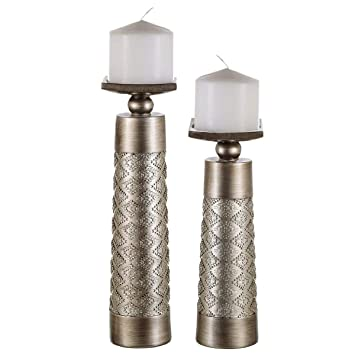 Lovely Dublin Decorative Candle Holder Set Of 2   Home Decor Pillar Candle Stand, Coffee  Table