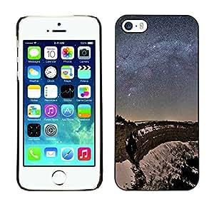 Noche Estrellas - Metal de aluminio y de plástico duro Caja del teléfono - Negro - iPhone 5 / 5S