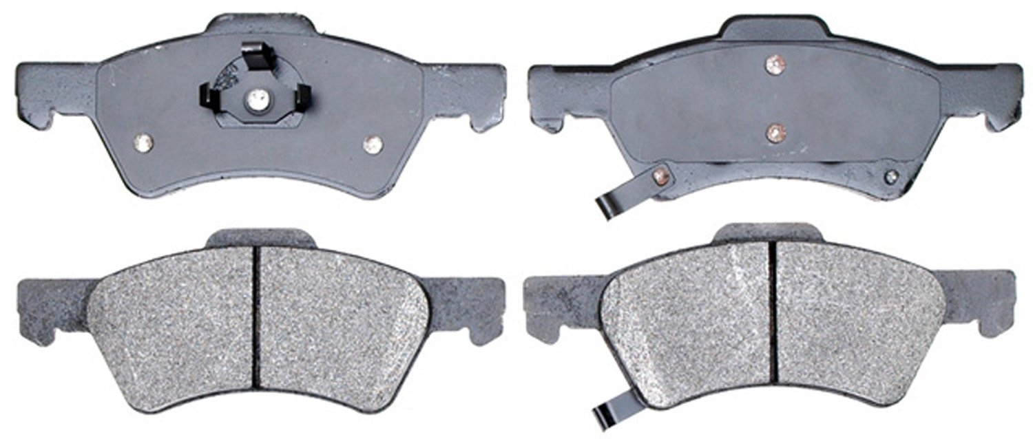 ACDelco 14D857M Advantage Semi-Metallic Front Disc Brake Pad Set with Wear Sensor
