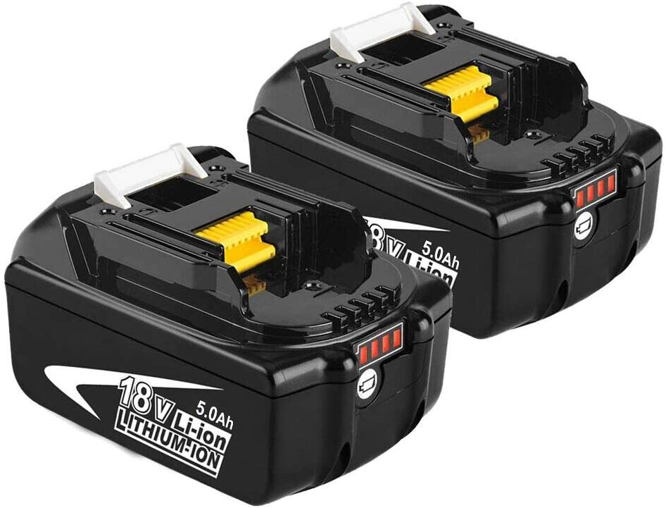 Moticett 2X BL1850B 18V 5.0Ah Reemplazo de Batería de para Makita 18v Batería BL1850 BL1860B BL1860 BL1840 BL1835 BL1830 BL1815 LXT-400 con indicador