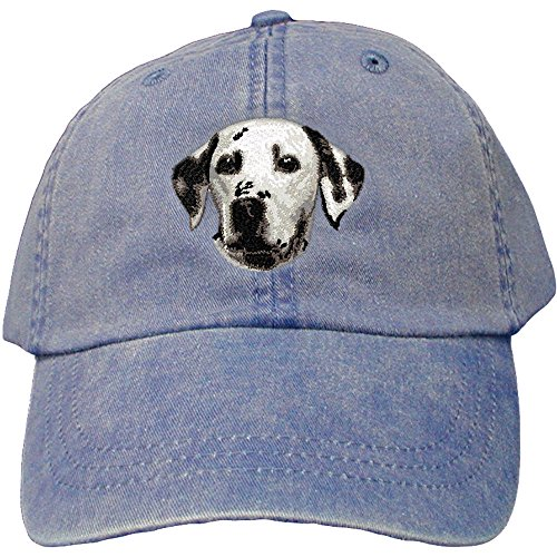 Embroidery Dalmatian (Cherrybrook Dog Breed Embroidered Adams Cotton Twill Caps - Royal Blue - Dalmatian)