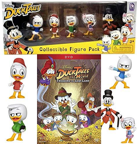 Comical cast of Ducks Disney Adventure DuckTales Lost Treasure Lamp DVD + Collectible Figure Pack pack cartoon family fun! Scrooge, Webby, Huey, Dewey, and Louie