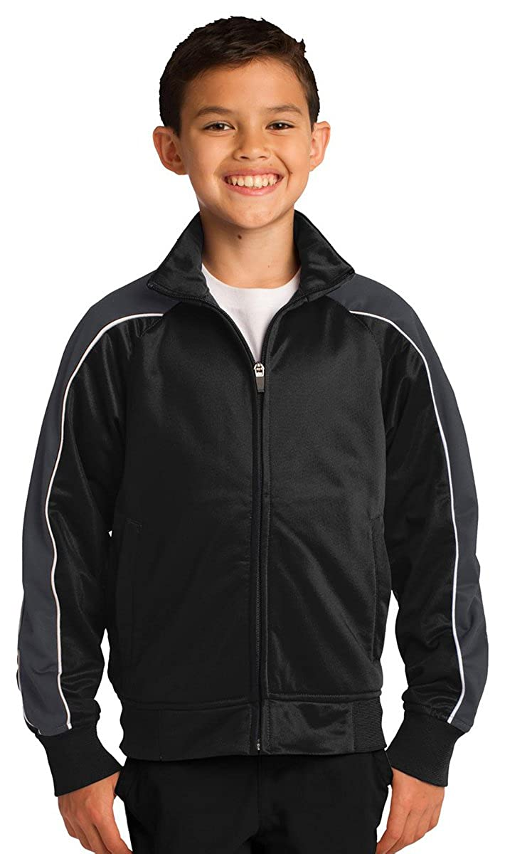 Sport-Tek Youth Cadet Collar Piped Tricot Track Jacket YST92