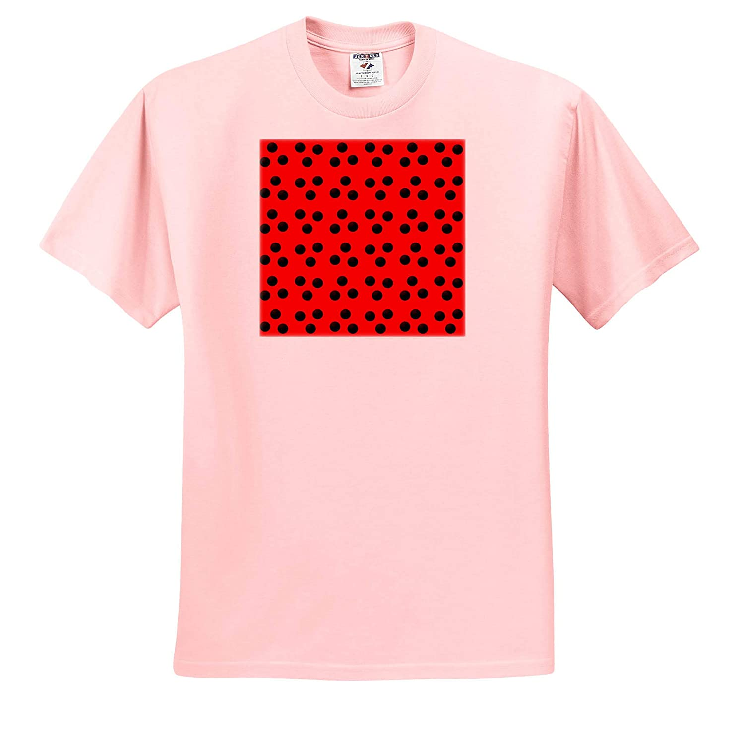 Adult T-Shirt XL Patterns Cute Lady Bug Red with Black Dots Pattern 3dRose Anne Marie Baugh ts/_317949