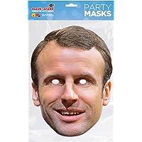 Masque en Carton Emmanuel Macron - Carnaval Politique Anniversaire Humour Blague 458
