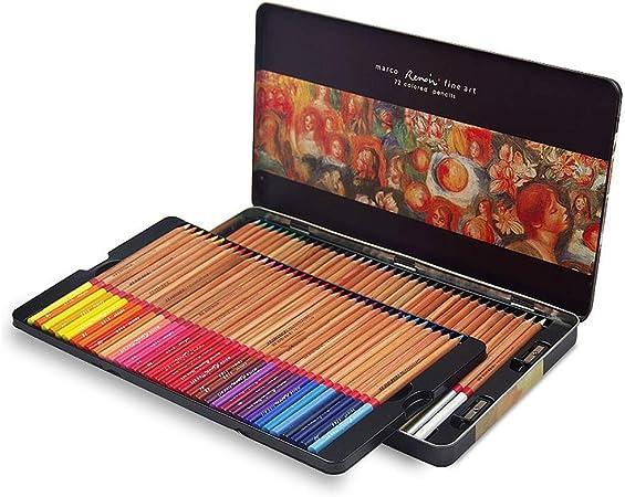 Lápices De Color De Aceite De 72 Colores, Empaques De Cajas Metálicas, Pintura De Estudiantes, Producción De ...
