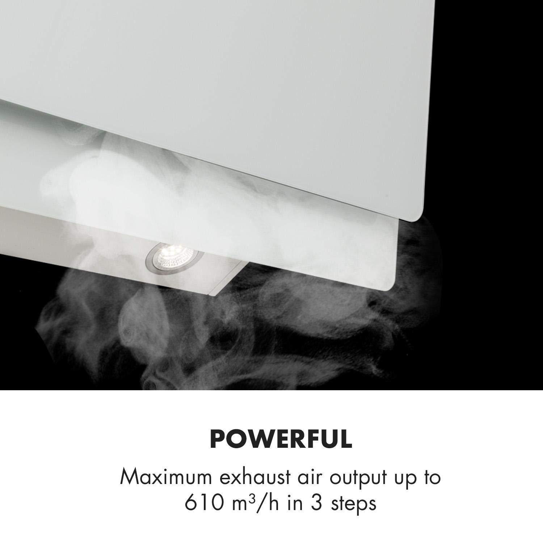 Klarstein Aurica 90 Extractor de humos • Extractor de pared • 90 cm de ancho • 610 m³/h • Control táctil • Vidrio • Circulación y extracción de aire ...