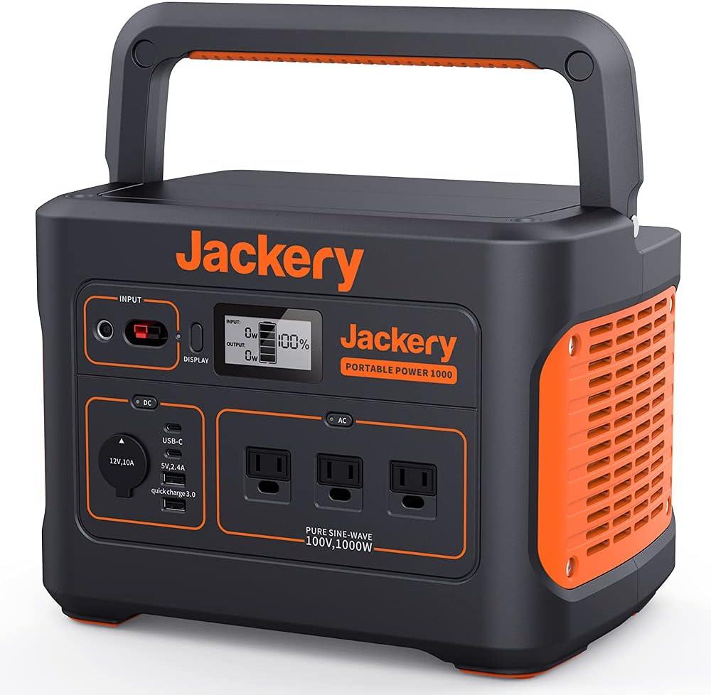 Jackery ポータブル電源1000 発電機 ポータブルバッテリー 大容量