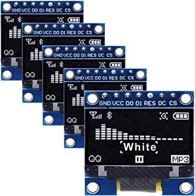 "5 pcs OLED Display Module 0.96/"" I2C 128X64 White SSD1306 Arduino compatible"