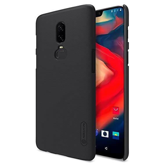 OnePlus 6 Case,Mangix Exact-Fit Premium Matte Finish Hard Back Cover Case with Film Screen Protector for OnePlus 6 2018 Newest Released (Black)