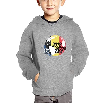 2018 Soccer Game Belgium Baby Boy Baby Girls Soft Pullover Hoodies Casual Hooded Sweatshirts with Pockets