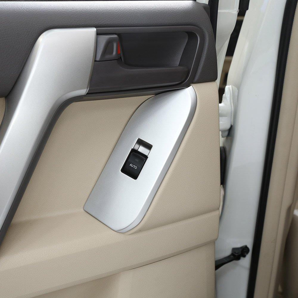 2018 Land Cruiser Prado FJ150 150 puerta interruptor ventana cubierta interior reposabrazos panel embellecedores coche accesorios LHD 4 x para 2010