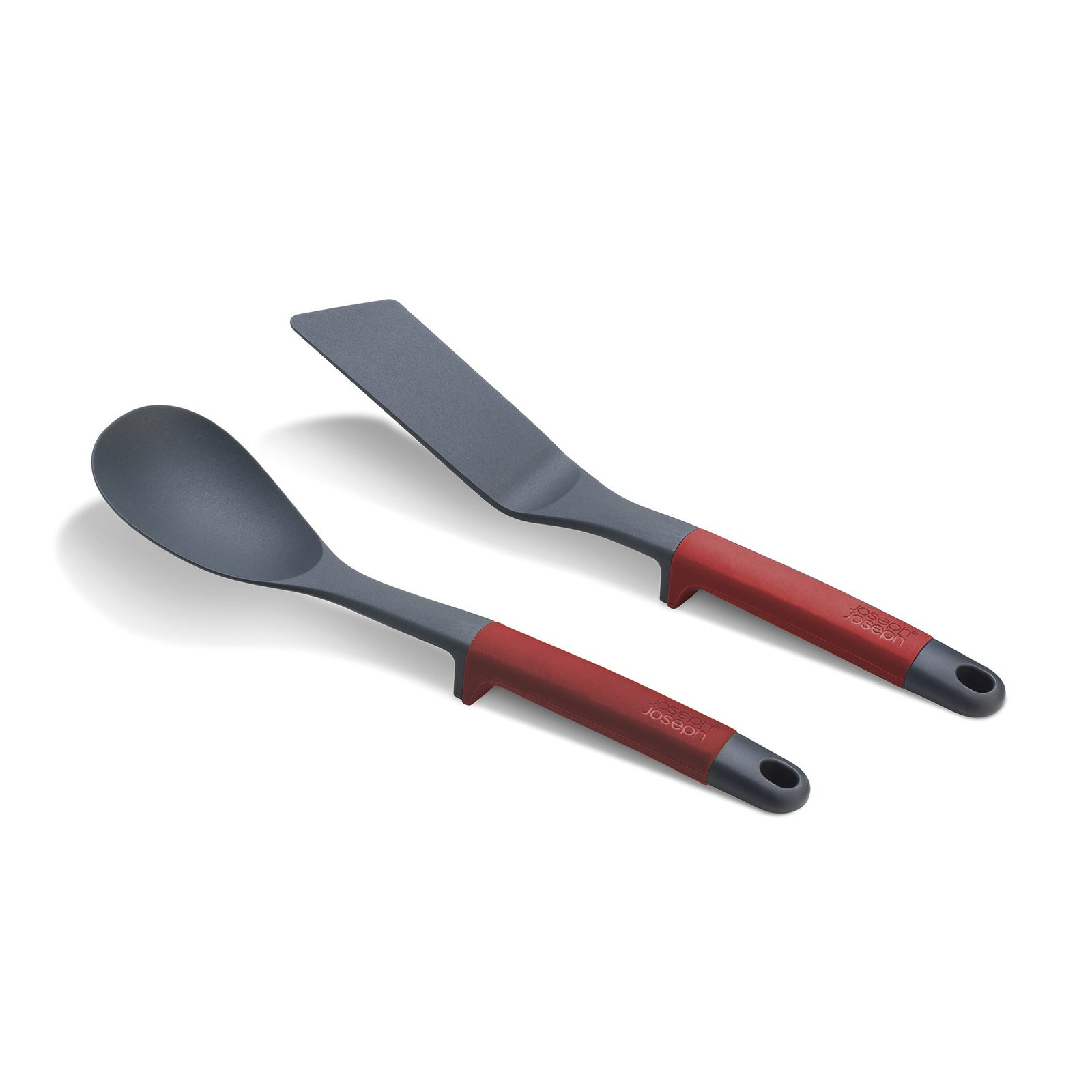 Joseph Joseph 10454 Elevate Solid Spoon and Flexible Turner with Integrated Tool Rest 2-piece Red