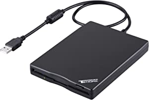 "Tendak USB Floppy Disk Drive - 3.5"" Portable USB External 1.44MB FDD Diskette Drive for PC Windows 7/8, Windows XP, Vista,for Mac Plug and Play (Black)"