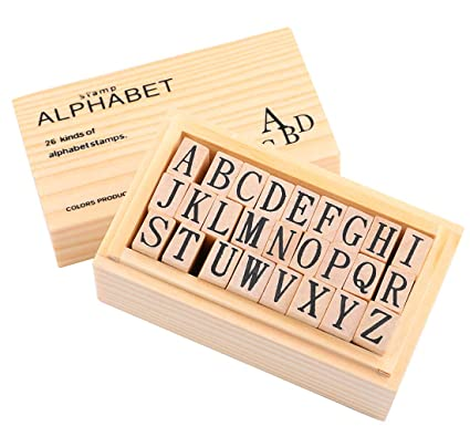 Amazon.com: Dedoot Wooden Rubber Stamp Alphabet, 26 Pcs Vintage