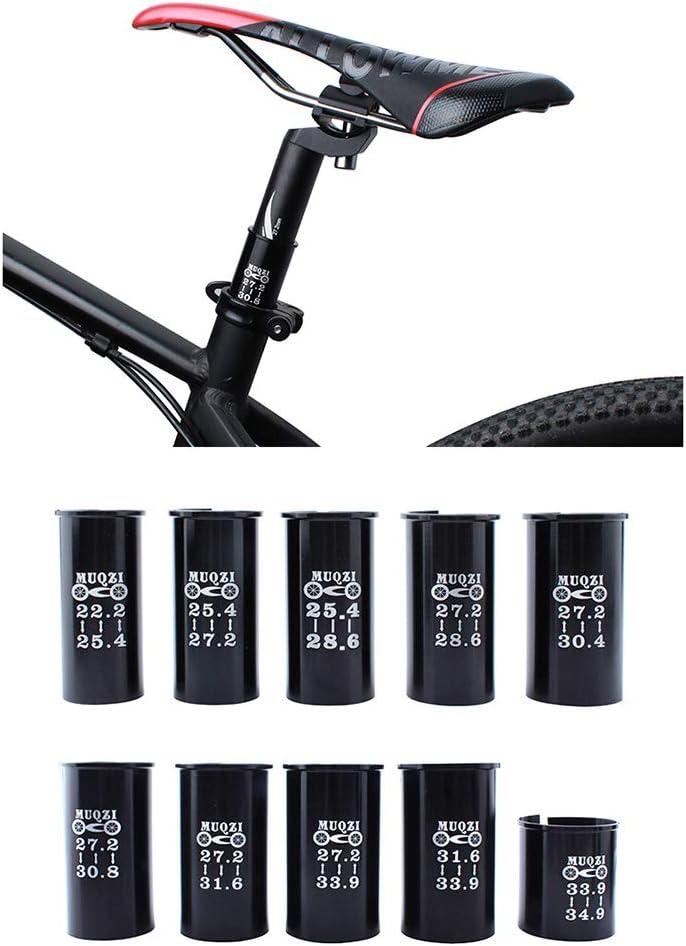 22,2 /à 25,4 60mm Qinghengyong Mountain Bike Tige de Selle Tube R/éduction de la Tige de Selle Manches Manches Tige de Selle VTT v/élo Tige de Selle Adaptateur v/élo Accessoires