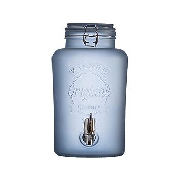 """Dispensador de bebidas """"Original Frosted azul cristal de 5 l, leche Cristal"""