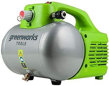 Omtyckta Greenworks Kompressor Druck Luft 6 l, 6,8 bar, stufenloser OI-82