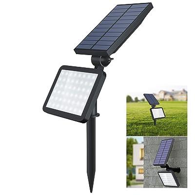 OUSFOT Solar Spot Lights Outdoor, 48 Led Spotlight 2-in-1 Adjustable Waterproof Solar Landscape Security Lighting Dark Sensing Auto On/Off : Garden & Outdoor