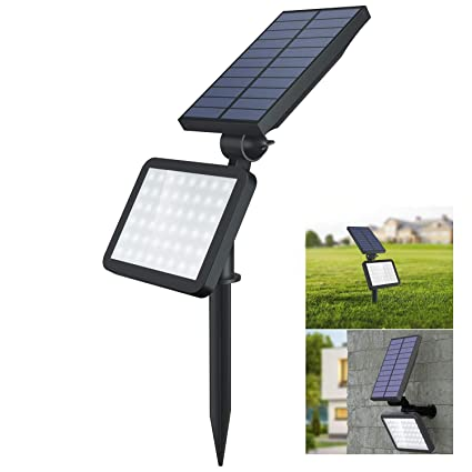 Amazon.com: OUSFOT - Foco solar para exteriores, 48 LED, 2 ...