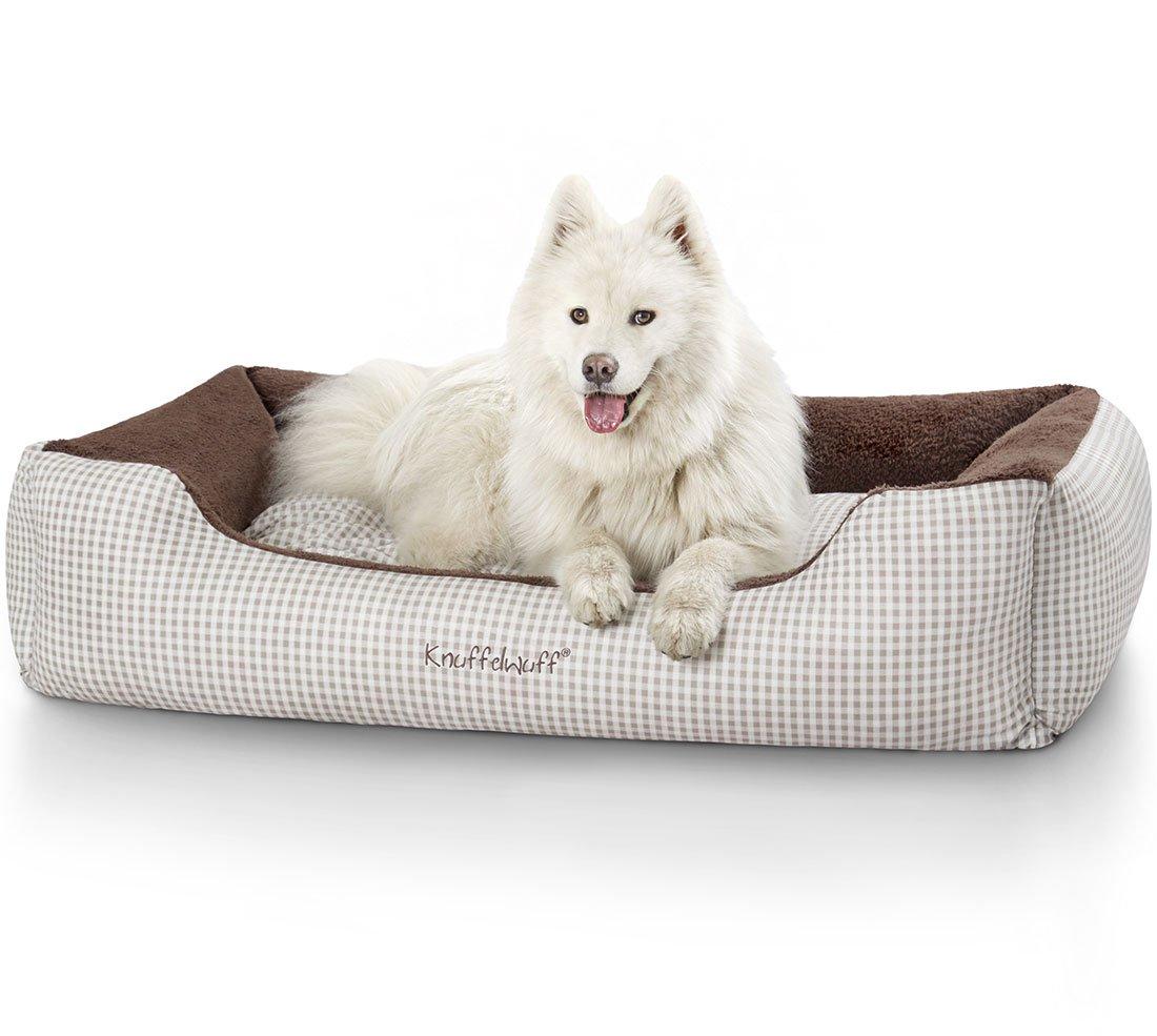 Knuffelwuff panier chien, lit pour chien, coussin, corbeille pour chien Lina marron XXL 120 x 85cm 13097