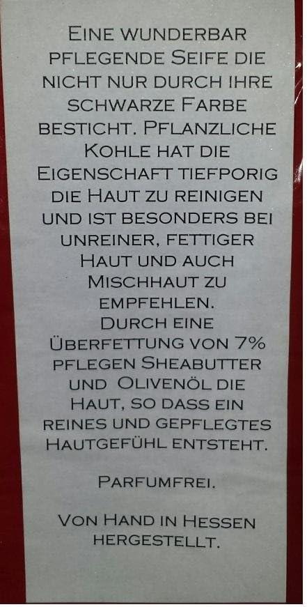 BlackSellig Handgemachte Pflegeseife aus Hessen mit Deutscher Buchenholzkohle von der Ostalb