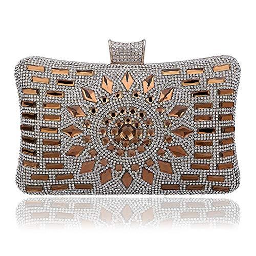Boxes Golden Bags Handbags Heavy Banquet Purses JUZHIJIA Makeup Evening Gorgeous Zero Gowns Industries Diamond Hand av1wSIq6