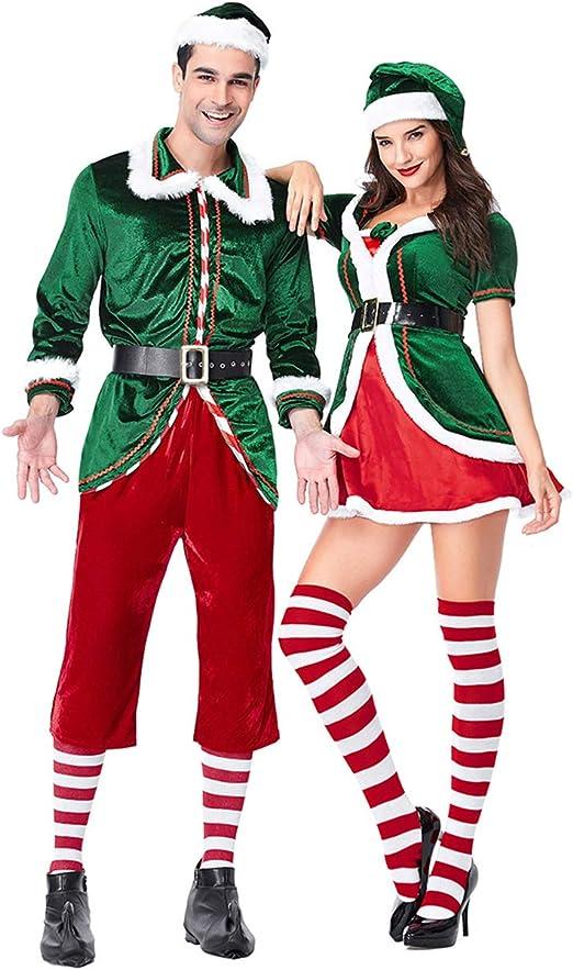 Amazon.com: Disfraz de elfo de Navidad para adultos y ...