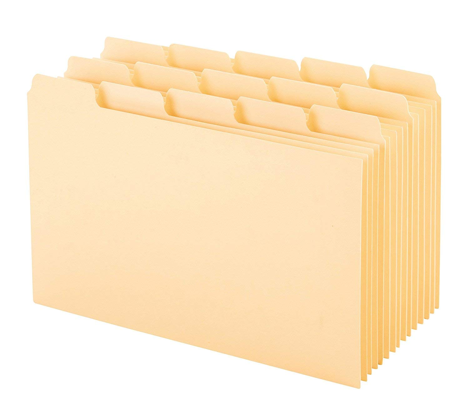 Oxford Index Card Guides with Blank Tabs, 4 x 6 inches, 1/5 Cut Tabs, Manila, 100 per Box 40462 (2 Pack)