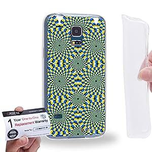 Case88 [Samsung Galaxy S5 Mini] Gel TPU Carcasa/Funda & Tarjeta de garantía - Art Fashion Visual Art Effect 6 Art1010