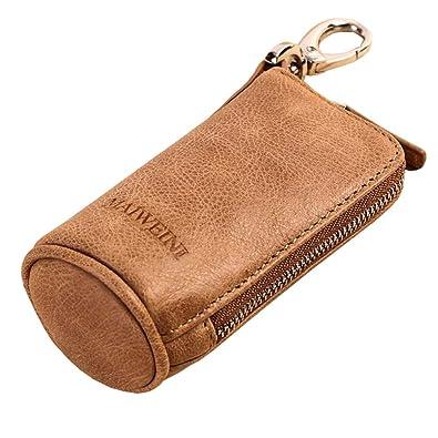 bdc4870eb6f2 WPPOWER 財布 メンズ ミニコインケース キーケース 小さい 小銭入れ コインケース クレイジーホースレザー