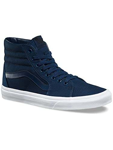 dfa9d552ce2 Vans SK8-Hi (Mono Canvas) Skate Shoe Dress Blues True White Size 6.5 Men 8  Women  Buy Online at Low Prices in India - Amazon.in