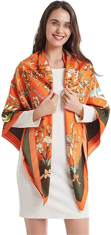 JUNGEN Bufanda de Lunares para Mujer Bufanda de Seda de imitaci/ón Bufanda de Gasa de Larga Toalla de Playa Bufanda de protecci/ón Solar de Verano
