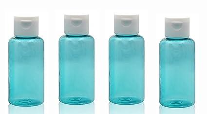 6 tapones de plástico verde de 80 ml con tapa para botella de embalaje, para