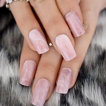 EchiQ - Puntas de uñas postizas con cabeza cuadrada de ...