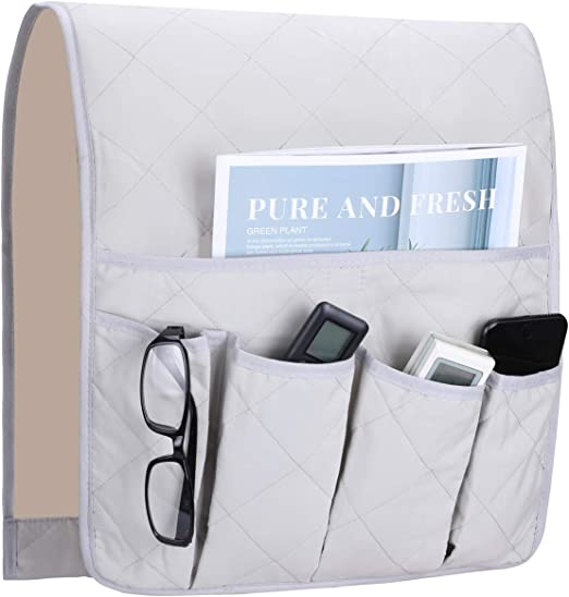 TV Remotes Caddy Holder Bag Keep Home Sofa Couch Control Organizer Case Cleaning