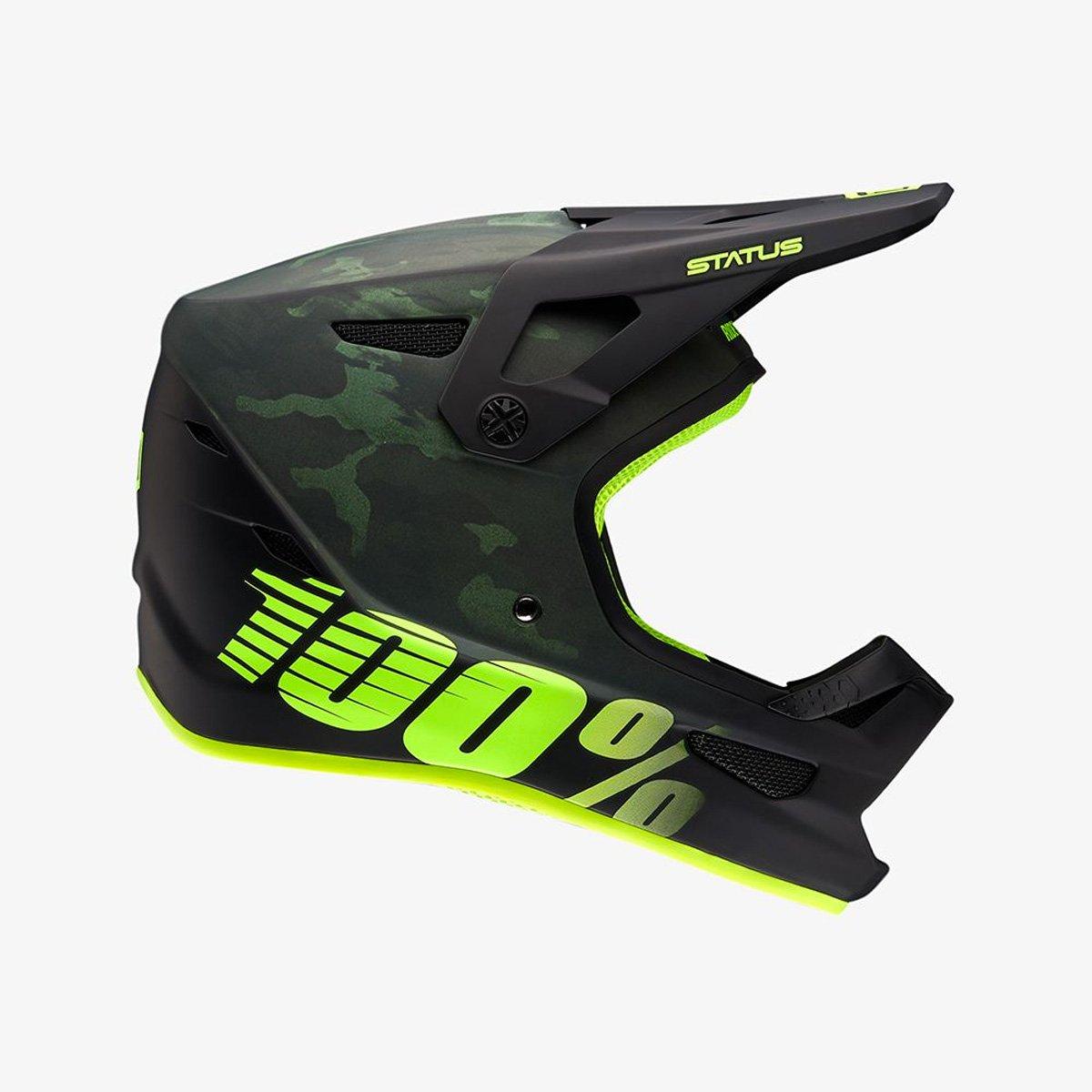 100% Downhill-MTB-Helm Status Schwarz Gr. XL