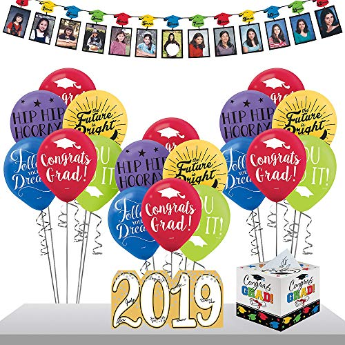 Party City Multicolor 2019 Graduation Gift Table and
