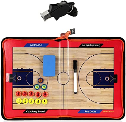 Basketball Coaching Strategy Board Portable Coach Tactics Equipment Two Sides