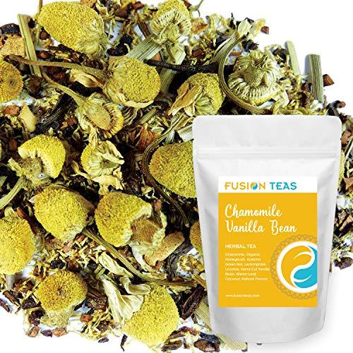 Chamomile Vanilla Bean - Loose Leaf Herbal Tea - Fusion Teas 5oz Pouch