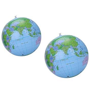 Pingenaneer Globe hinchable, pelota de playa inflable globo ...