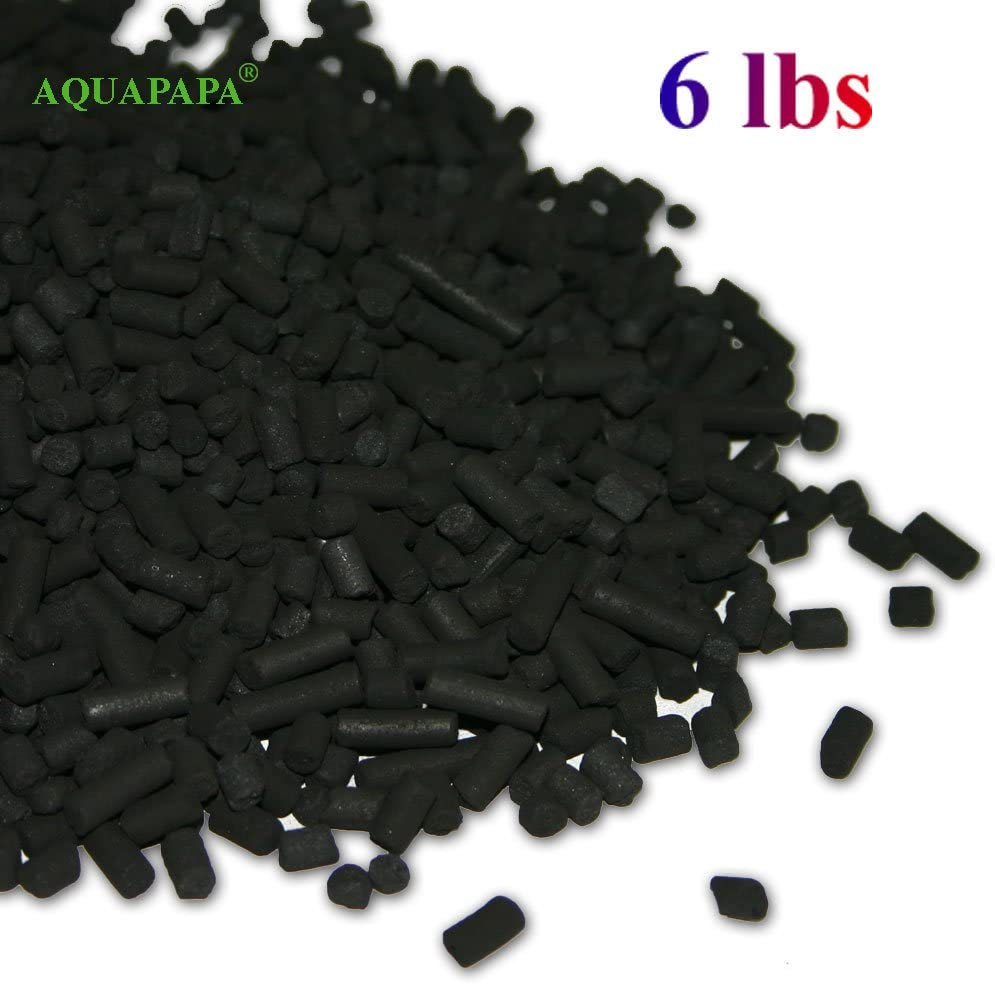 Aquapapa 6 lbs Bulk Activated Carbon Charcoal Pellets for Aquarium Fish Tank Koi Reef Filter