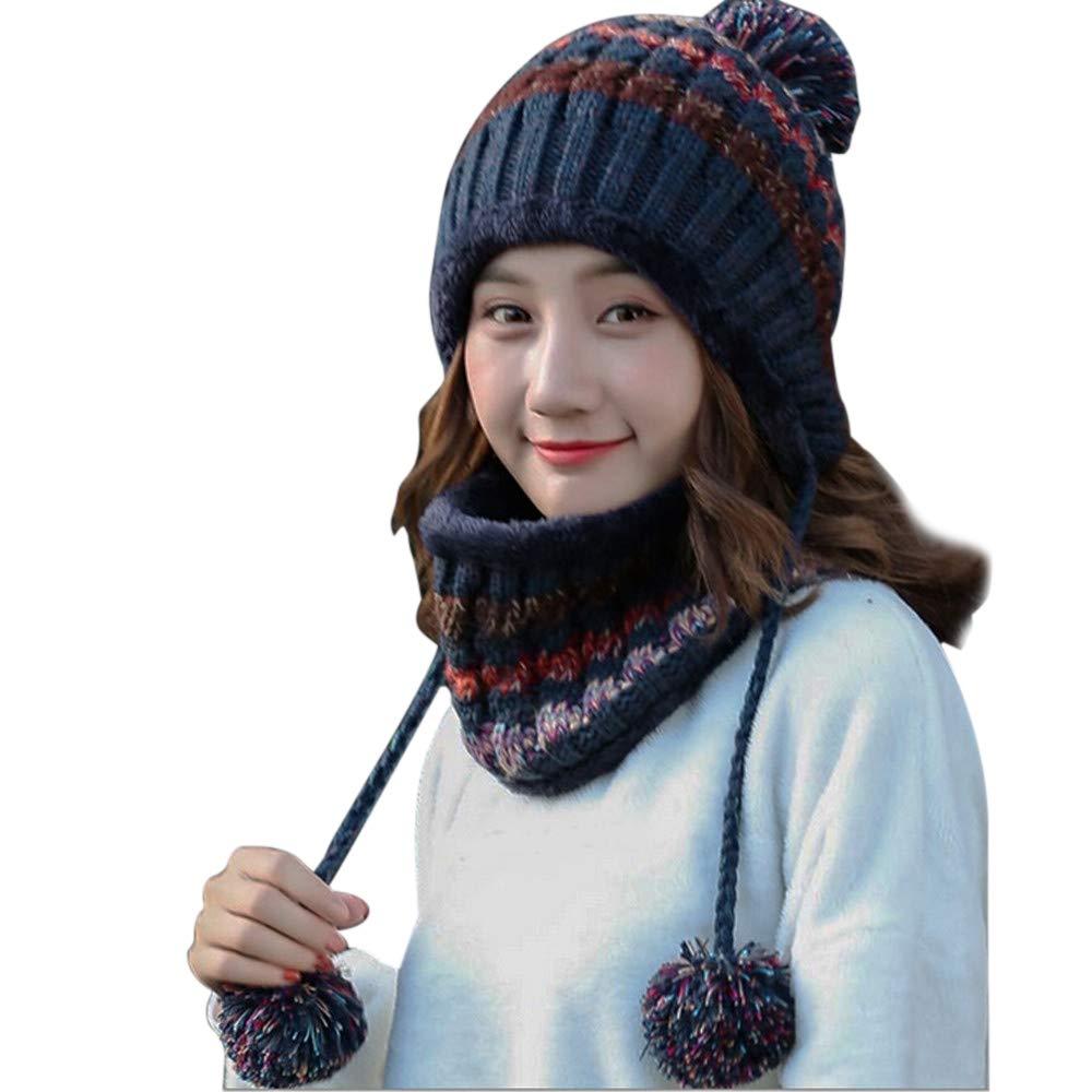beautyjourney Cappello Donna Invernali + sciarpa donna invernale ... 3b3ccf2e3958