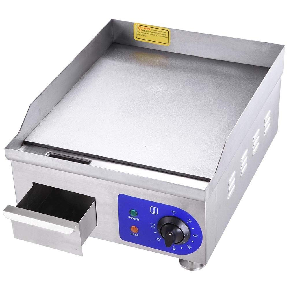tonyangvalue 1500W Electric Countertop Griddle Flat Top 14