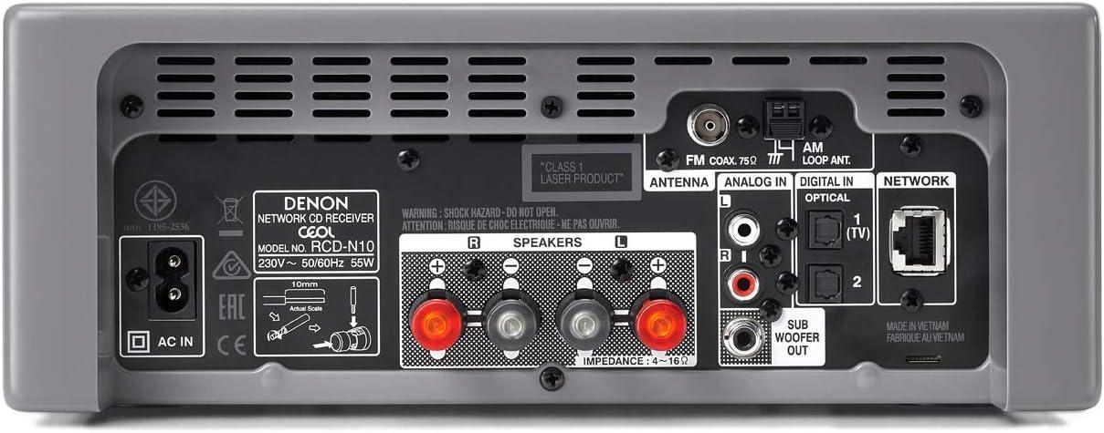 Denon Ceol/N10 - Microcadena con conexión en Red, Color Gris ...