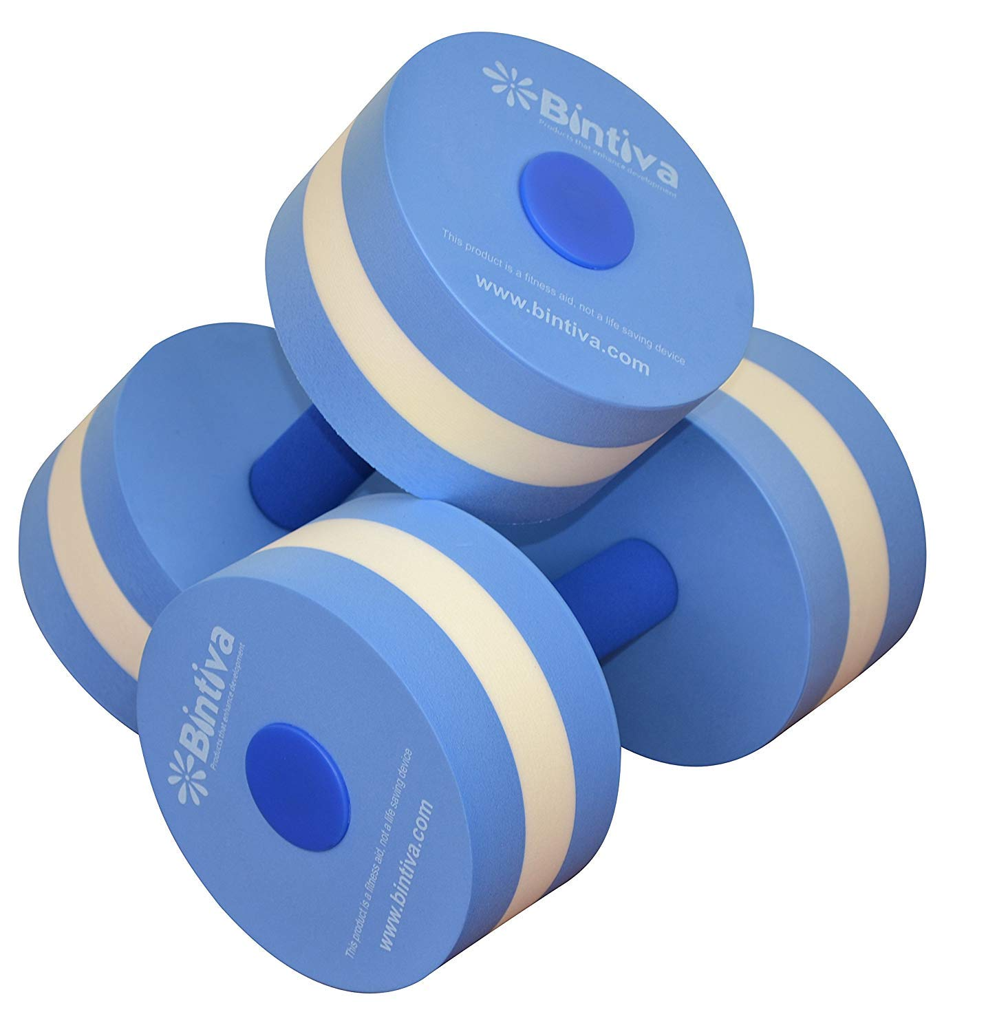 bintiva Aqua Dumbbell Set – Provides Resistance for Water Aerobics Fitness and Pool Exercises – 1 Pair – 3