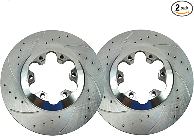 Premium GRADE for 2004-2008 Chevy Colorado//GMC Canyon - Complete FRONT Brake Kit Rotors /& Ceramic Brake Kit Pads w//Clips Hardware Kit 2006-2008 Isuzu i-280,i-290,i-350,i-370 Detroit Axle